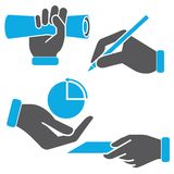 Hand holding objects Stock Photo