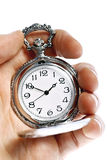 Hand holding old pocket watch Royalty Free Stock Image
