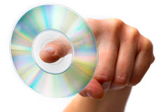Hand holding one dvd Stock Photo