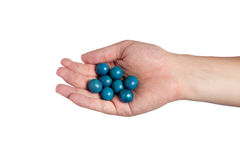 Hand Holding Paint Balls Royalty Free Stock Images