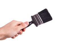 Hand Holding Paint Brush Royalty Free Stock Photography