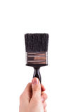 Hand Holding Paint Brush Stock Photography
