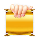 Hand holding paper Royalty Free Stock Photo