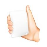 Hand holding paper. Computer illustration on white background vector illustration