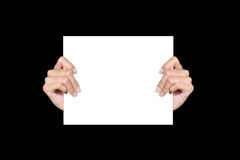 Hand holding paper Royalty Free Stock Photography