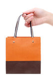 Hand holding paper bag Stock Image
