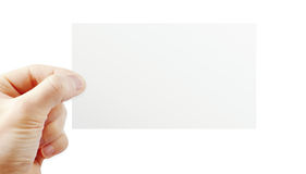 Hand holding paper Royalty Free Stock Photos