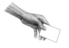 Hand holding paper Stock Photography