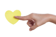 Hand holding paper heart, Royalty Free Stock Photos