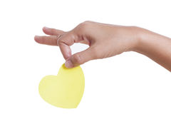 Hand holding paper heart, Royalty Free Stock Photography