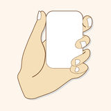 Hand holding paper theme elements vector,eps. Vector illustration file Stock Photography