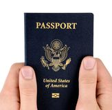Hand holding passport Royalty Free Stock Image