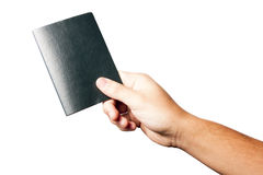 Hand Holding a Passport Isolated on White Royalty Free Stock Photography