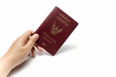 Hand holding a passport Royalty Free Stock Photo