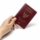 Hand holding a passport Stock Image