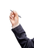 Hand holding pen. Stock Image