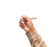 Hand holding pen. Stock Photography