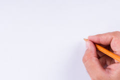 Hand Holding Pencil Royalty Free Stock Image