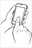 Hand holding phone Stock Photos