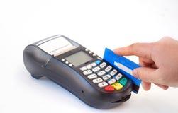 Hand holding plastic card Stock Photo