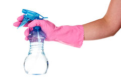 Hand  holding plastic sprayer Royalty Free Stock Photo