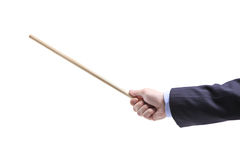 Hand holding a pointing stick Royalty Free Stock Photo