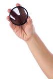 Hand holding polarization filter. Isolated on white background Stock Image