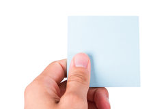 Hand Holding Post It Stock Photos
