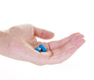 Hand Holding Prescription Drugs Royalty Free Stock Images