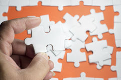 Hand holding Puzzle Royalty Free Stock Photography