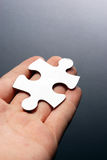 Hand holding a puzzle piece Royalty Free Stock Photo