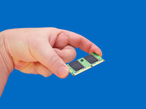 Hand holding RAM memory Royalty Free Stock Image
