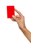 Hand Holding Red Card Royalty Free Stock Image