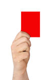 Hand holding a red card Stock Images
