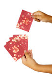 Hand Holding Red Envelope Stock Image