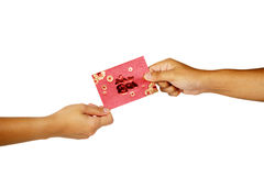 Hand Holding Red Envelope Royalty Free Stock Photography