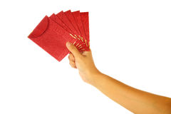 Hand Holding Red Envelope Royalty Free Stock Photos