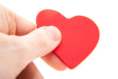 Hand holding red heart Royalty Free Stock Photos