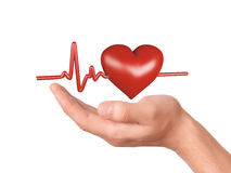 Hand holding red heart. healthcare and medicine concept Royalty Free Stock Photo