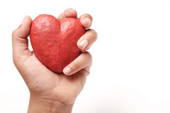 Hand holding red heart. Stock Photography