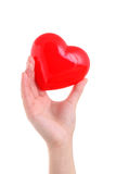 Hand holding red heart symbol Royalty Free Stock Images