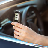 Hand holding remote car key Stock Image