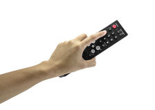 Hand holding remote Royalty Free Stock Photos