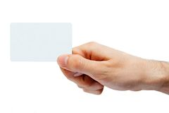 Hand holding retail or credit card Stock Image