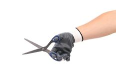 Hand holding scissors. Royalty Free Stock Photography
