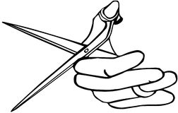 Hand holding scissors Royalty Free Stock Photo