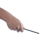 Hand holding screwdriver Royalty Free Stock Image
