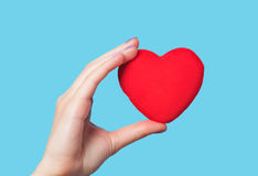 Hand holding shape heart Royalty Free Stock Image