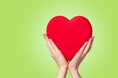 Hand holding shape heart Stock Photo