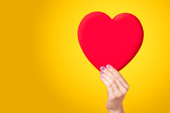 Hand holding shape heart Royalty Free Stock Photography